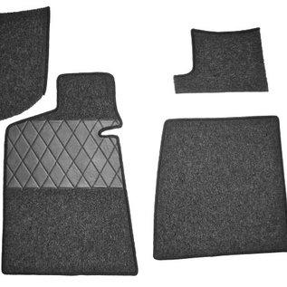 BMW E9 2500 2800 3.0 CS CSi Jeu de moquette interieur boucle gris foncé + nubuck