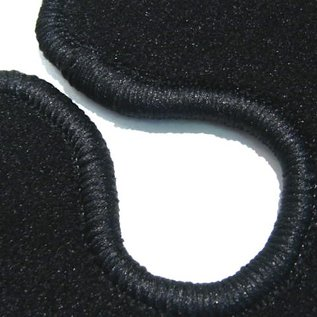 BMW E9 2500 2800 3.0 CS CSi Trunk carpet mat velours black
