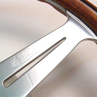 "Nardi ""Classic"" wood + polished spokes + visible screws 36 cms. steering wheel"