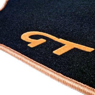 Alfa Romeo GT 2003-2010 Floor mat set velours black-gold script + trim