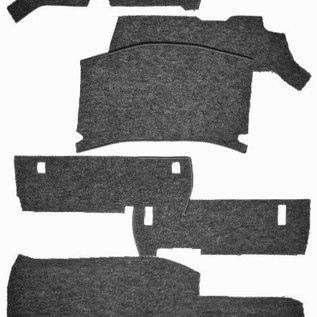 Mercedes-Benz W116 S + SE 1972-1980 Carpet set interior loop black