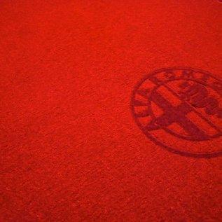 Alfa Romeo Spider 1983-1993 Floor mat set velours red - red logo + trim