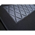 Carpet set interior velours dark grey + nubuck Fiat 124 Sport Coupe BC + CC