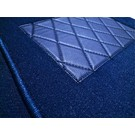 Carpet set interior velours dark blue Fiat 124 Sport Coupe BC + CC