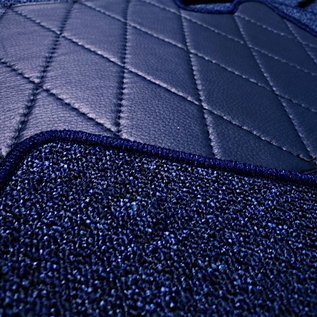 Fiat 124 Sport Coupe BC + CC Carpet set interior loop dark blue