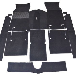 Fiat 124 Sport Coupe BC + CC Carpet set interior loop dark grey + nubuck