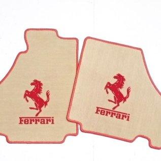 Ferrari 360 Floor mat setvelourstan - red horse + script + trim