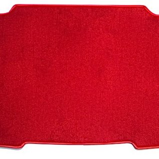 Fiat 124 Spider - front mounted battery Trunk mat velours red + semi-leather