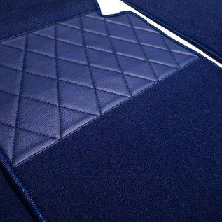 BMW E38 7-series 1994-2001 Floor mat set premium velours dark blue