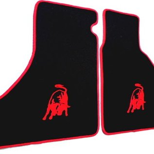 Lamborghini Urraco Floor mat set velours black - red