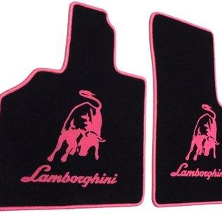 Lamborghini Gallardo E-gear 2003-2011 Floor mat set velours black - pink