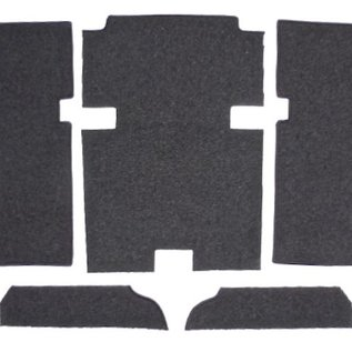 Peugeot 404 Coupe + Cabriolet 1961-1968 Carpet set interior velours grey + nubuck