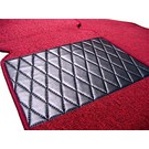 Carpet set interior loop dark red Peugeot 404 Coupe + Cabriolet 1961-1968