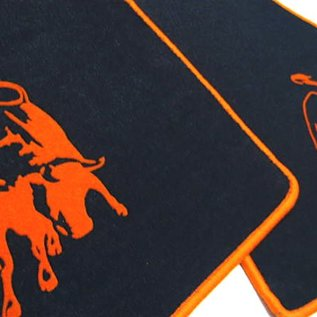 Lamborghini Diablo Floor mat set velours black - orange