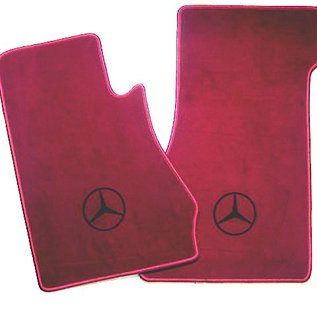 Mercedes-Benz W113 230 250 280 SL 1963-1971 Floor mat set velours dark red - black logo