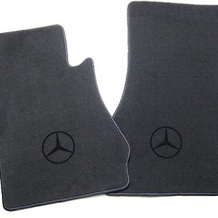 Mercedes-Benz W113 230 250 280 SL 1963-1971 Floor mat set velours dark grey - black logo