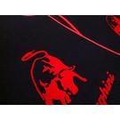 Floor mat set velours black - red Lamborghini Gallardo E-gear 2003-2011