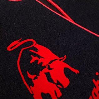 Lamborghini Gallardo E-gear 2003-2011 Floor mat set velours black - red