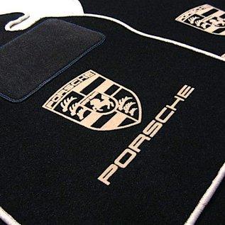 Porsche 924 Floor mat set black - tan