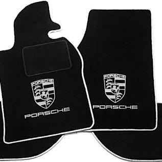 Porsche 924 Floor mat set black - silver