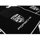 Tapis de sol noir - argent Porsche 924