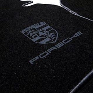 Porsche 924 Floor mat set velours black - dark grey
