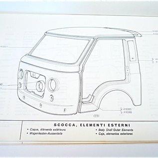 FACTORY BODYWORK PARTS MANUAL Fiat 241