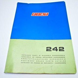 FACTORY BODYWORK PARTS MANUAL Fiat 242
