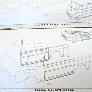 MANUEL DE PIÈCES D'USINE CARROSSERIE Fiat 242