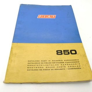 FACTORY BODYWORK PARTS MANUAL - III 1970 -  Fiat 850 Sedan