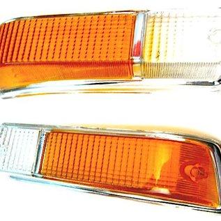 CABOCHONS CLIGLOGNANT AMBRE / TRANSPARENT FR - Alfa Romeo Bertone GTJ GT 1600 1600 2000 70-76 - NOUVEAU