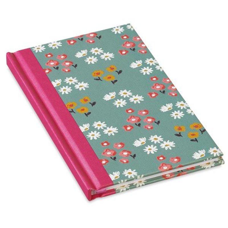 Notitieboek lichtgroen met bloem print