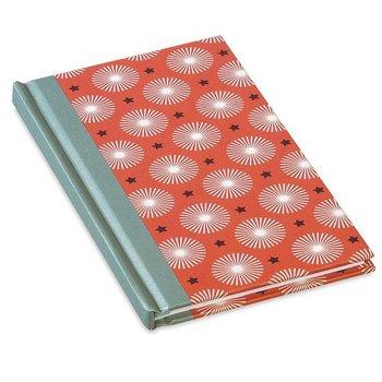 Mr & Mrs Clynk Notitieboek rood met grafische bloemen