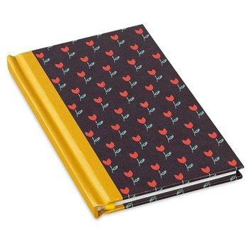 Mr & Mrs Clynk Notitieboek zwart met rode tulpjes