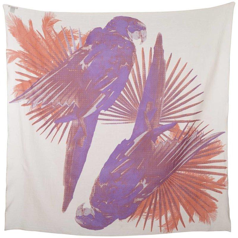 Sjaal Parrots Talk - Paars