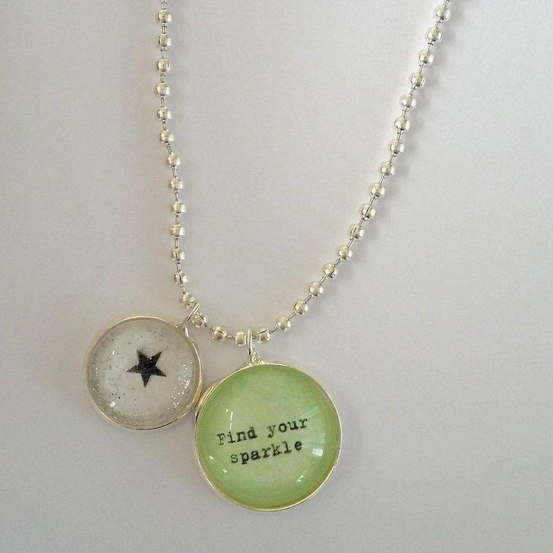 Ketting met twee bedels - Find your sparkle