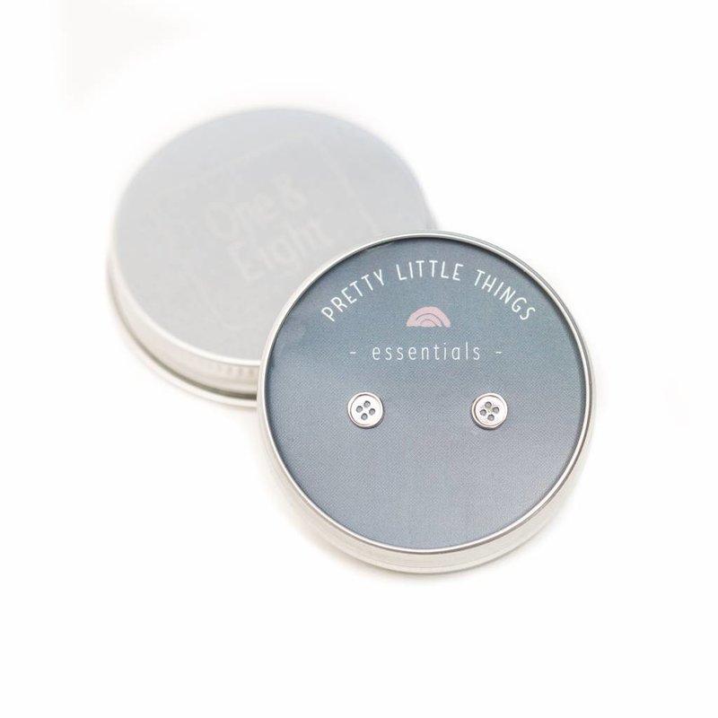 Zilveren knoopjes oorbellen