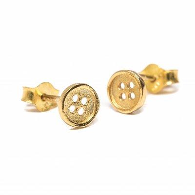 Gouden knoopjes oorbellen