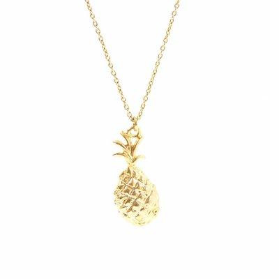 Gouden ketting met gouden ananas