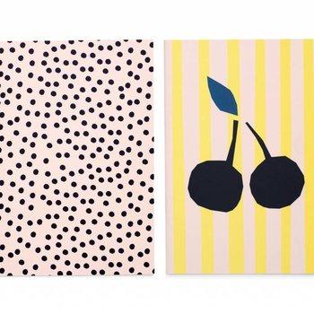 Darling Clementine Set van 2 notitieboeken Dotty