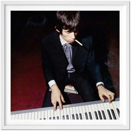 The Rolling Stones. Art Ed. Rej, Keith playing the piano, 1965