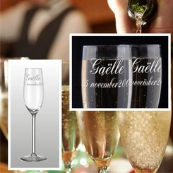 Party Champagneglas Cyntra met gravering