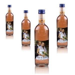 Flesjes Rose wijn Grand Sud 25 cl met foto etiket