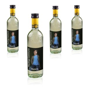 Bouteilles de Vin Blanc Grand Sud 25 cl avec étiquette photo
