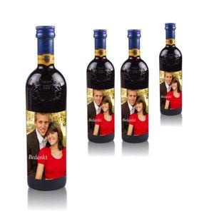Bouteilles de Vin Rouge Grand Sud 25 cl avec étiquette photo