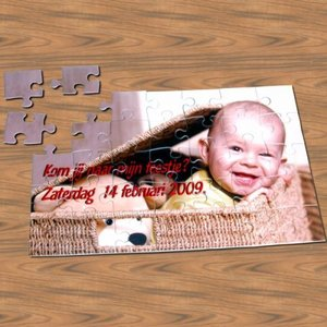 Puzzle 30 pièces avec photo