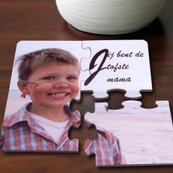 Puzzel Onderlegger Set Typo met foto
