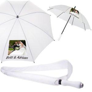 Witte Paraplu met personalisatie