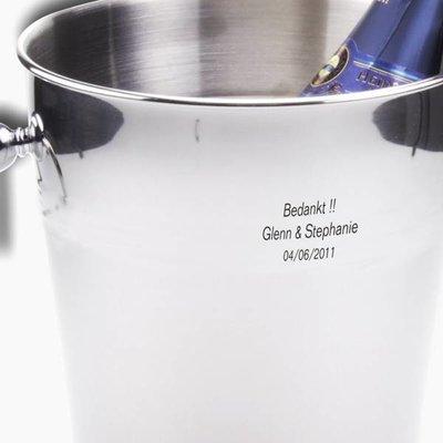 Ijsemmer - Champagnekoeler Deluxe gegraveerd