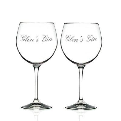 Gin glazen met gravering